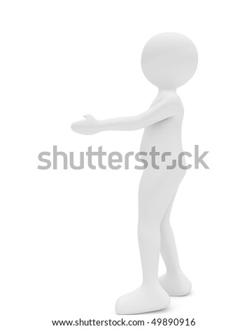 woman standing with her hand outstretched to embrace