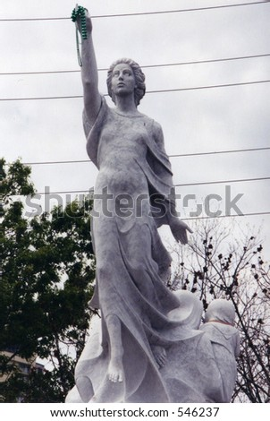 woman statue in new orleans - stock photo