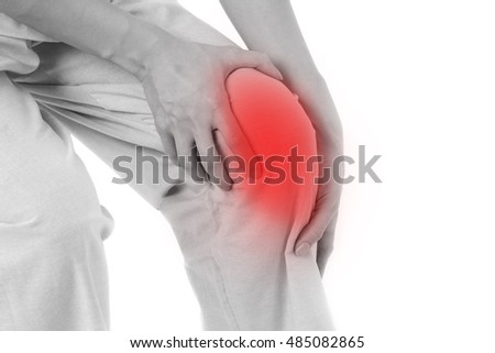 woman suffering from knee joint pain, arthritis, gout