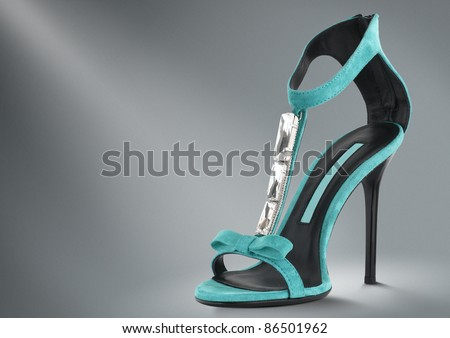 woman summer shoes concept - stock photo
