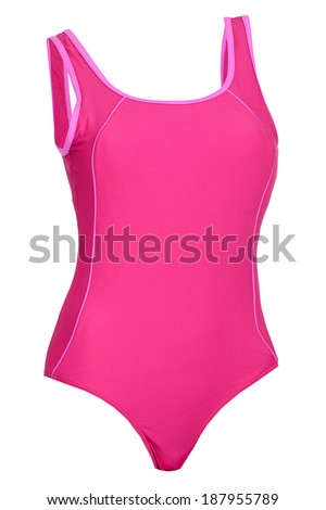 Woman swimsuit isolated on white background