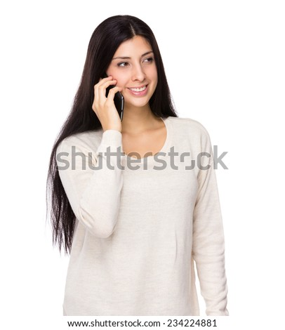 Woman talk to phone
