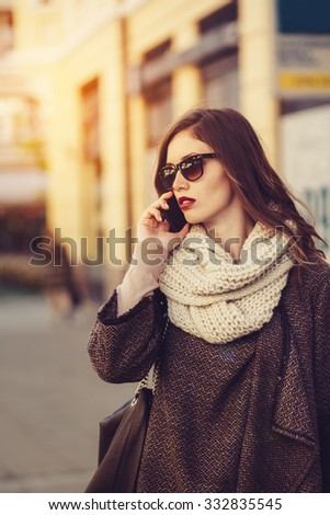 Woman talking on phone outdoor