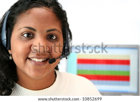 Woman talking on the telephone - stock photo