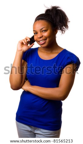 woman talking with a mobile phone. - stock photo
