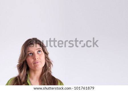 Woman thinking - stock photo