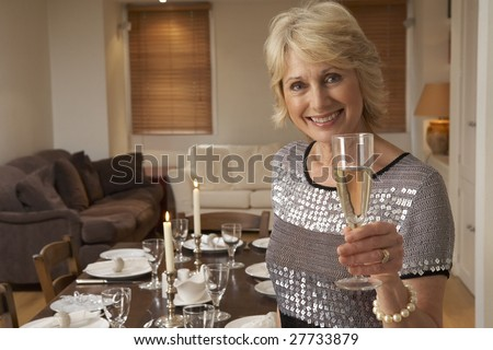 Woman Throwing A Dinner Party