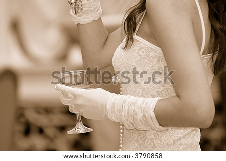 Woman toast - stock photo