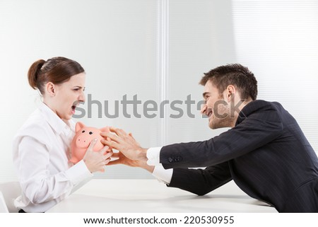 Woman trying to protect his savings