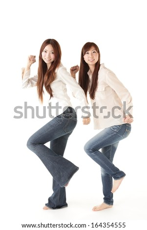 Woman, two people - stock photo