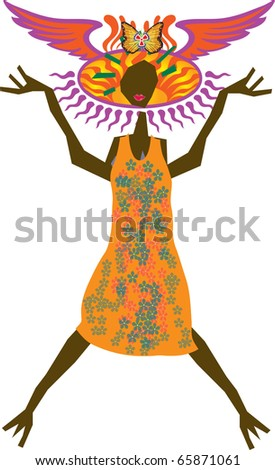 Woman vector art - stock photo
