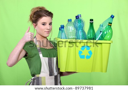 woman waist sorting - stock photo