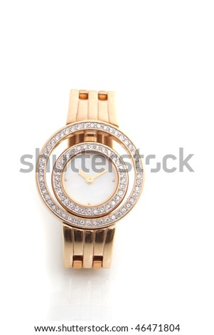 woman watch isolated on white background - stock photo
