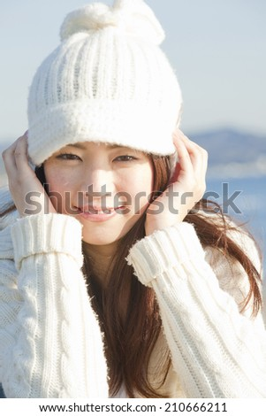 Woman Wearing A Knit Hat
