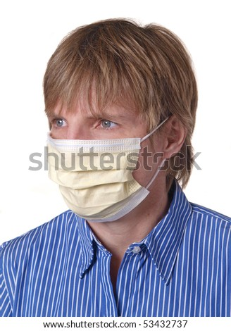 woman wearing a protective mask to guard against viruses
