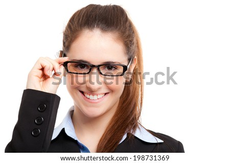 Woman wearing glasses portrait