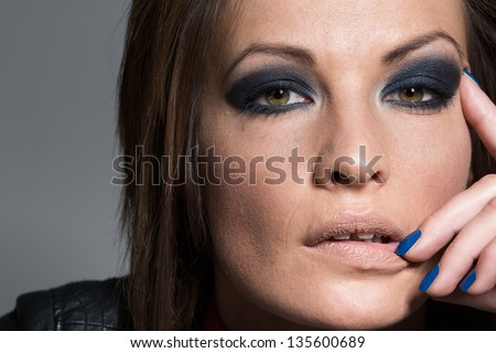 Heavy Makeup Stock Images Royalty-Free Images U0026 Vectors | Shutterstock