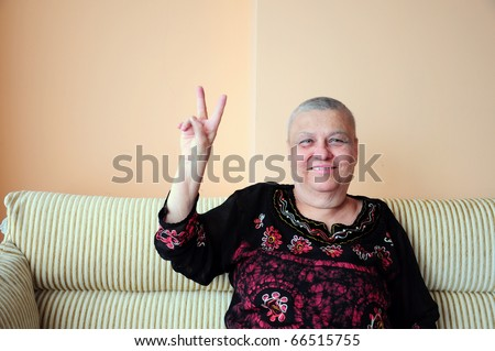 woman who is cancer - stock photo