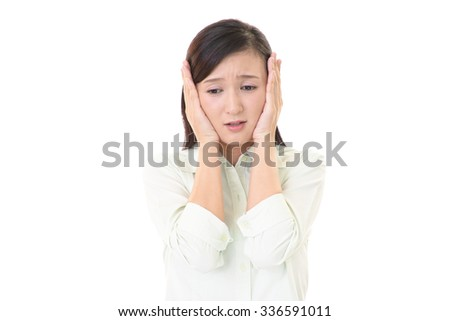 Woman who is in trouble - stock photo