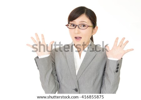 Woman who is surprised