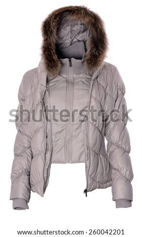 Woman winter jacket - stock photo