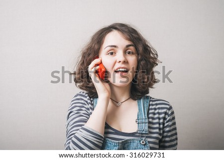 Woman with a cell phone.  - stock photo