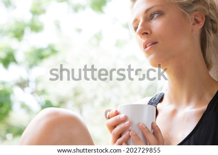 woman with a coffee mug