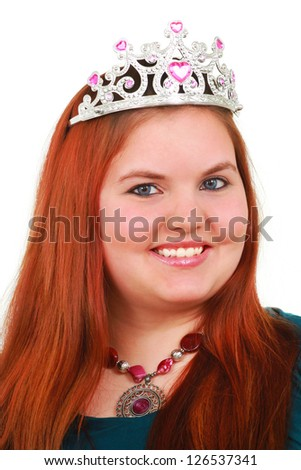 Woman with a crown - stock photo