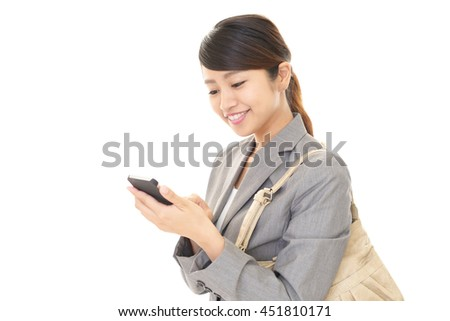 Woman with a smart phone