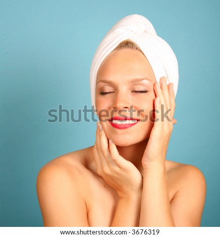 Woman With a Towel on Hair Awaiting Spa Treatment