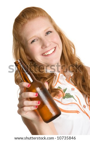 Woman with Beer Bottle