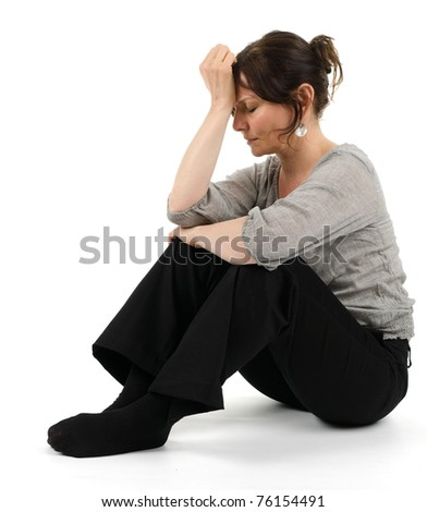 woman with burnout syndrome