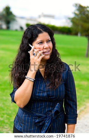 woman with cell mobile phone
