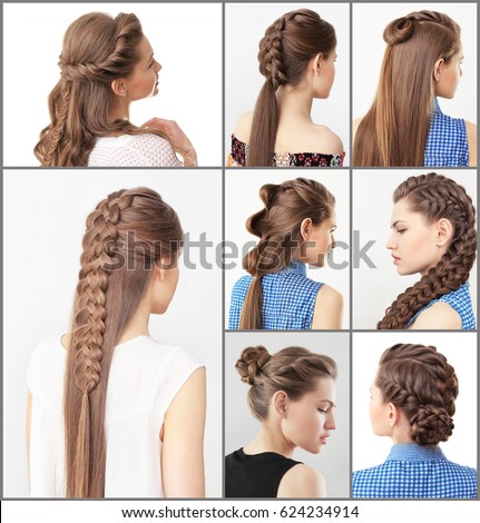 try hair style different hairstyles stock photo royalty free 3034