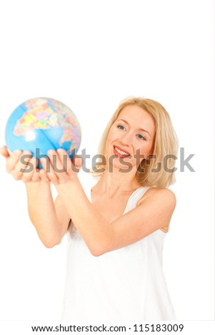 woman with earth