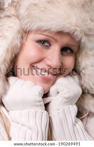 woman with fur hat