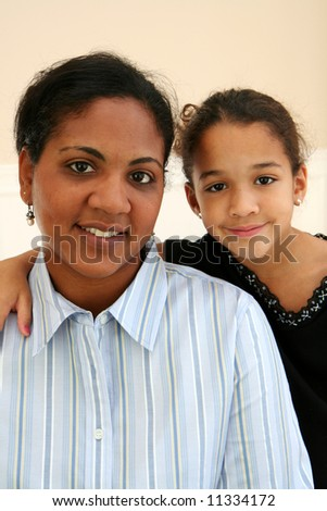 Woman with her daughter
