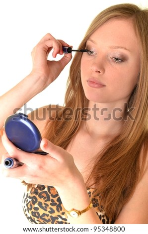 woman with make-up - stock photo