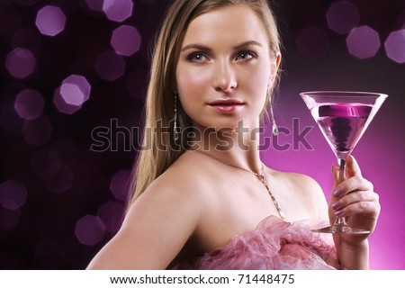 woman with martini glass
