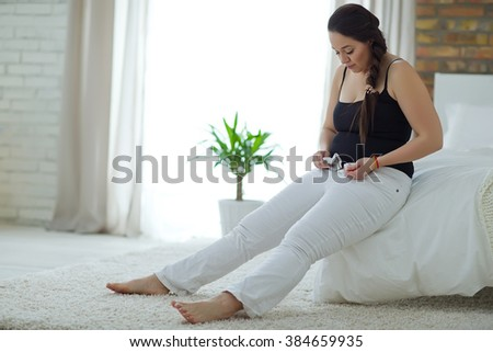 Woman with overweight - stock photo