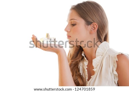 Woman with perfume - stock photo