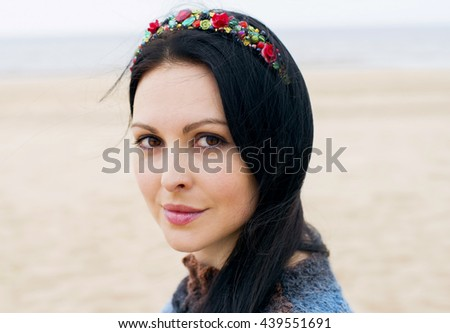 woman with sad eyes, the depression - stock photo