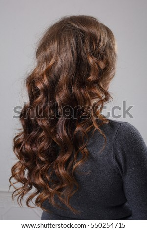 woman with styling curls