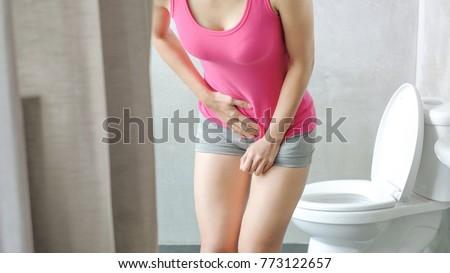Woman Urine Urgency Toilet Stock Photo Edit Now