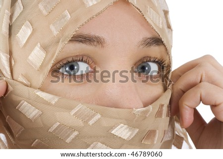 woman with veil - stock photo