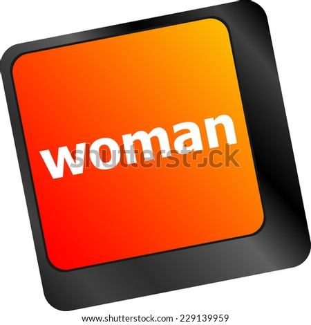 woman word on keyboard key button - stock photo