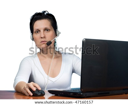 woman working on computer in office