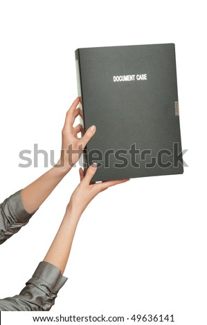 woman working with documents in the office