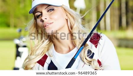 Womans golf - stock photo