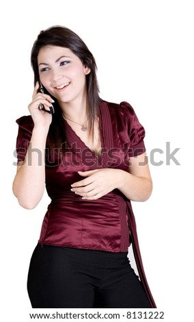 Women and cell phone - stock photo